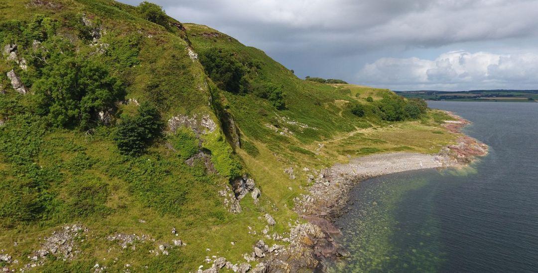 Drone view West Island Way