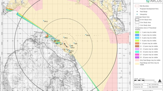 North Arran proposed site visibility projection